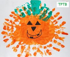 Hand Print Jack-o-lantern