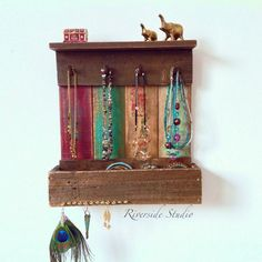 Wall Mounted Jewelry Organizer I could make this I think Just a