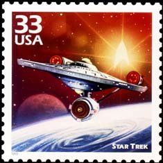 USA Sept Scott# Star Trek These are the voyages of the Starship Enterprise. See episode with Mother Horta. All life is precious. Star Trek Tv, Star Trek Ships, Star Wars, Star Trek Original Series, Starship Enterprise, Sci Fi Fantasy, Mail Art, Stamp Collecting, Marvel