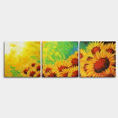해바라기 그림 8 (40X40CM *3) Oil Pastel Drawings, Alice, Painting Tips, Gouache, Art Projects, Tapestry, Concept, Artwork, Pictures