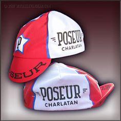 Hmm. A cycling cap that says poseur. Seems redundant.