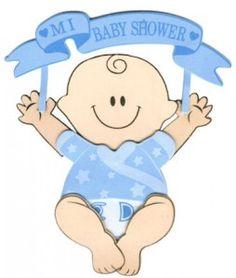 Descarga estas imagenes de bebe para baby shower varones