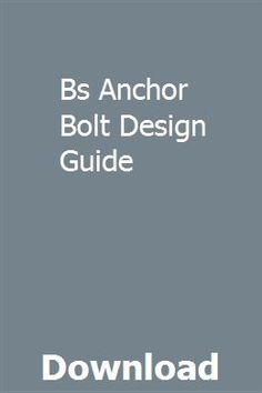 7 Best Anchor Bolt images in 2016 | Anchor bolt, Anchor, Nut