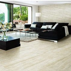 Pale River White Granite Look Porcelain Tiles
