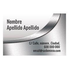 Tarjetas de Visita Una Cara Horizontal Platinium Silver, Jewelry, Business Cards, Faces, Jewlery, Jewerly, Schmuck, Jewels, Jewelery