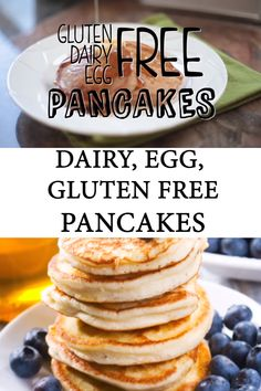 Keto Discover Fluffy Allergy-Friendly Pancake Recipe These allergy friendly pancakes are the perfect gluten-free dairy-free and egg-free pancakes the whole family will devour! Dairy Free Pancakes, Dairy Free Snacks, Dairy Free Breakfasts, Dairy Free Eggs, Keto Snacks, Lactose Free Foods, Dairy And Gluten Free Appetizers, Dairy Free Kids Meals, Wheat Free Recipes