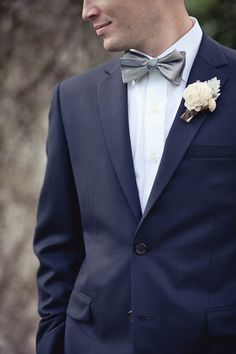 suit and bow tie combo