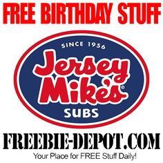 FREE BDay Sub & Drink Free Birthday Food, Birthday Freebies, Birthday Stuff, Restaurant Gift Cards, East Coast Style, Love Is Free, Free Stuff, Free Samples, Drink