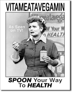 I Love Lucy Vitameatavegamin 16 x 12 Nostalgic Metal Sign | Man Cave Kingdom