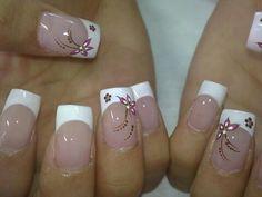 Arte en uñas Yoma ira y Lady Elegant Nail Designs, French Nail Designs, Elegant Nails, Acrylic Nail Designs, Nail Art Designs, Acrylic Nails, Cute Nails, Pretty Nails, My Nails