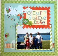 Family scrapbooking layout featuring the August 2011 PersonalScrapper.com scrapbooking kit using My Mind's Eye
