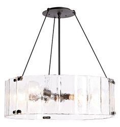 """WILLAMETTE LARGE FLUTED GLASS CHANDELIER Item # A0641 32"""" Diameter $1199.00 also in 24"""""""