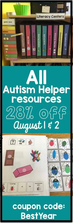 All Autism and Special Education Resources are 28% off August 1 and 2!