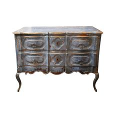 French 18th Century Louis XVth Period Arbalette Commode in Painted Wood