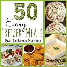 Freezer Meals - prepare ahead of time and a few slow cookers