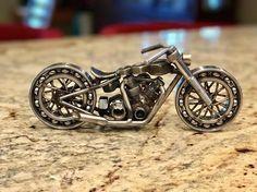 Moto métal Sculpture Street Chopper Rider