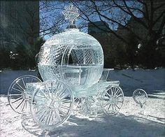 Awesome Snow and Ice Sculptures. A collection of incredible Snow and Ice Sculptures❤️ Snow And Ice, Fire And Ice, Snow Sculptures, Sculpture Art, Metal Sculptures, Abstract Sculpture, Bronze Sculpture, Cinderella Carriage, Cinderella Coach