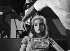 Sue Lyon on the set of Lolita, 1961
