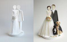 Свадебные фигурки жениха и невесты на торт