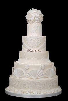 All white wedding cake - Cake by Olga Danilova