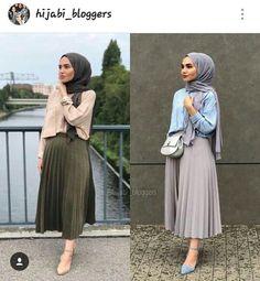 Style Casual Hijab Rok 33 Ideas For 2019 Modern Hijab Fashion, Hijab Fashion Inspiration, Muslim Fashion, Modest Fashion, Fashion Outfits, Style Inspiration, Hijab Style, Casual Hijab Outfit, Hijab Chic