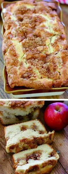 Apple Pie Bread - apple, bread, cake, cinnamon, cookie, dessert, pie, recipes, vanilla