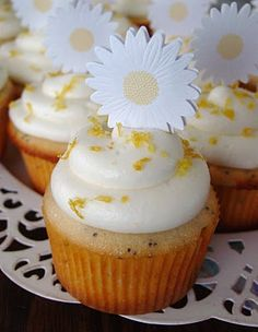 Lemon Poppyseed cupcakes from Lick The Bowl Good: Cupcakes and Cookbooks
