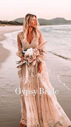After Wedding Dress, Best Wedding Dresses, Boho Wedding Dress, Bohemian Wedding Flowers, Country Wedding Gowns, Modest Wedding, Wedding Shoes, Wedding Rings, Hippie Vintage