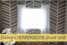 How to paint a herringbone accent wall