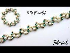 (23) Easy beaded bracelet pattern. Tutorial for beginners  - YouTube