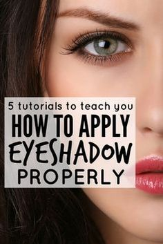 Whether you're just starting to figure out the wonderful world of makeup, or have been coating your face with it for years, these tutorials are filled with fantastic tips and tricks to teach you how to apply eyeshadow PROPERLY.