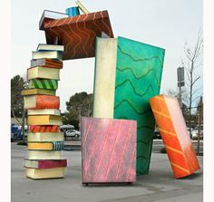 Catch a Book, 2010, by Joseph BELLACERA (Artist). West Sacramento Library. Yolo County Public Art, California. ...  If you like the art, give the artist credit  by name here in the caption. Link / Pin from the Primary source. Promote blogs here in the caption.