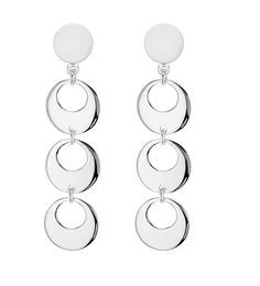 Tuscany Silver Sterling Cut Out Disc Drop Earrings Read More Info By Clicking