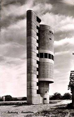 Water Tower (1959-61) in Backnang, Germany, by... - German Post-War Modern