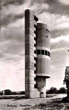 Water Tower (1959-61) in Backnang, Germany, by... - German Post-War Modern