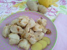 Bocconcini di pollo zenzero e limone
