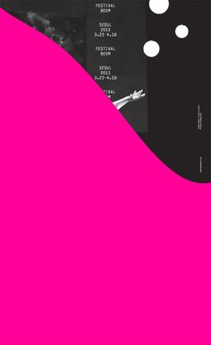 Poster for Festival Bo:m 2013, interdisciplinary performing arts festival, Seoul. Offset lithography and silkscreen, 440 x 720 mm. #design #graphicdesign