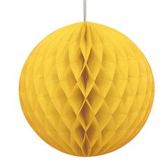 Una bola de nido de abeja de 20cm, para la decoración de fiestas divertidas - de www.fiestafacil.com, €2,85 / A lovely 20cm honeycomb ball for fun party decorations, from www.fiestafacil.com