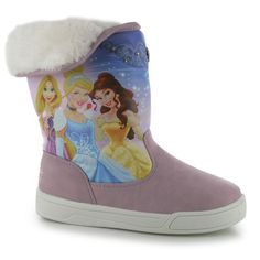 Girls Disney Princess Winter Snow Boots