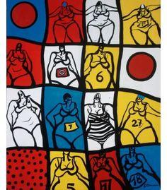 L'été pop - Acrylique sur toile de C. Brenner - Disponible à la galerie le hangART