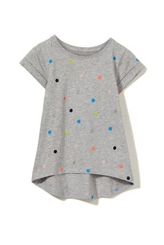 A must have for every little girls wardrobe is the Penelope short sleeve tee. The cute swing tee features short sleeves and a printed image in the centre of the t-shirt.