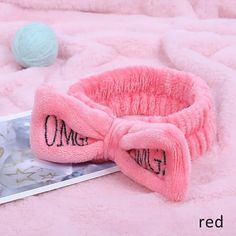 New OMG Letter Coral Fleece Wash Face Bow Hairbands For Girls Hair Bows Headband Headwear Turban Hair Accessories For Women Cute Headbands, Headbands For Women, Fashion Headbands, Headband Hairstyles, Girl Hairstyles, Bow Hairband, Soft Corals, How To Apply Makeup, Applying Makeup
