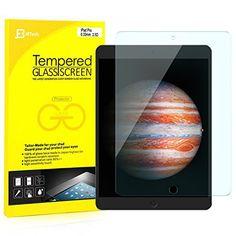 iPad Pro 12.9 Protection écran, JETech® Prime en Verre Trempé Protecteur Tempered Glass Screen Protector Film pour Nouveau Apple iPad Pro…