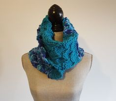 Chunky Knit Textured Infinity Scarf by WhiteTeather on Etsy