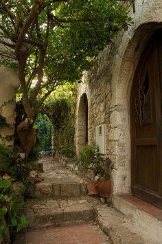 Garden Courtyard, Eze, France