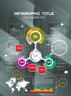 Infographic Template: Timeline Vector Infographic Design #infographictemplate #design #dark