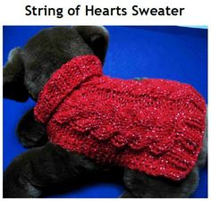 Check out this item in my Etsy shop https://www.etsy.com/listing/61903813/dog-sweater-knitting-pattern-string-of