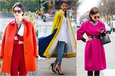 kolorowy płaszcz damski