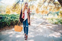 Dressing for fall is a whole lot like glamping. Glamping, Madewell, Dressing, Tote Bag, How To Wear, Thanksgiving, Bags, Outfits, Style
