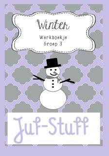 Werkboekje in het thema winter, groep 3. Juf-Stuff: Time flies; winterwerkboekje groep 3 Working With Children, Best Teacher, Creative Kids, Crafts For Kids, 1, Teaching, Education, Christmas, Snow